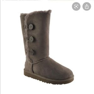 Girl Ugg Bailey Button Triplet Shearling Boots 2